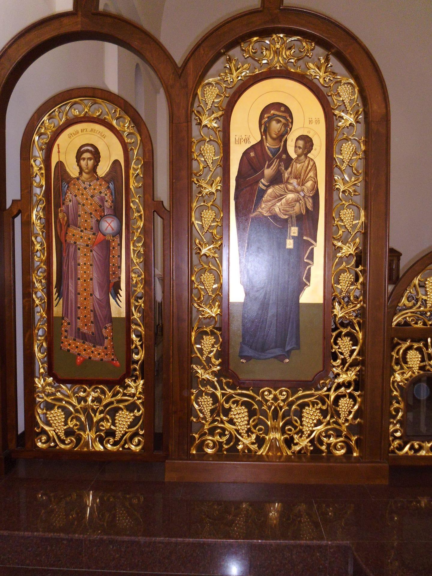 Манастир Свети дух_иконостас фрагмент 2