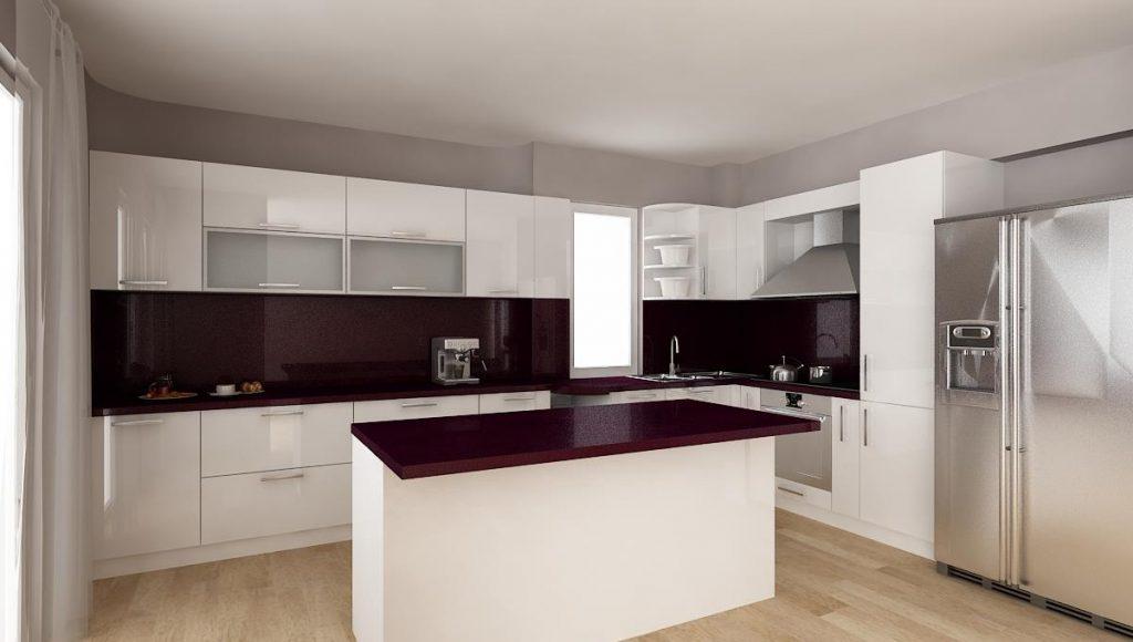 Кухня Враца_проект бял